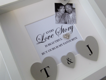 Engagement Gift Frame Love Story